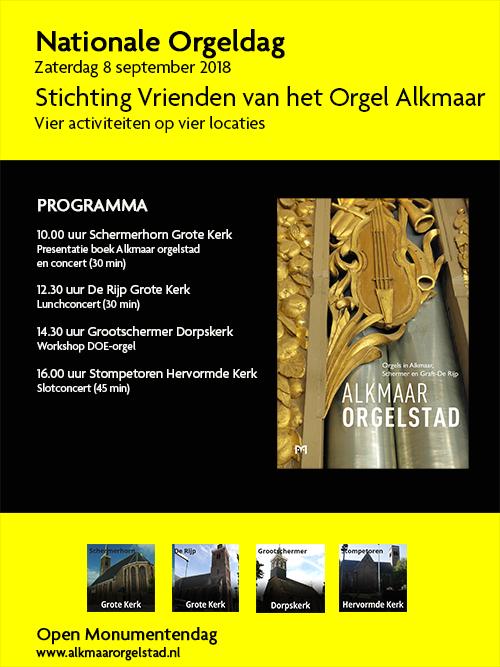 Nationale Orgeldag in Alkmaar Orgelstad
