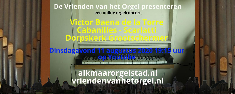 Online concert door Victor Baena de la Torre in Grootschermer